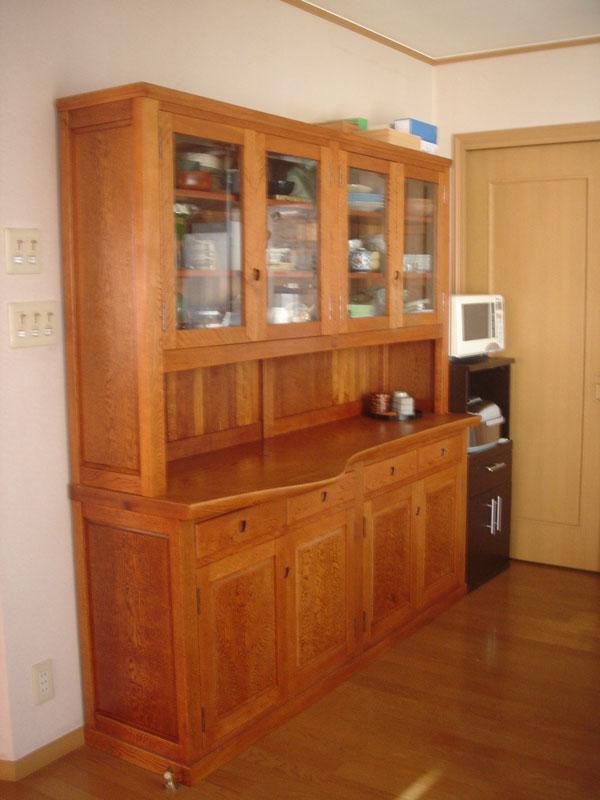食器棚 食器棚:無垢の手作り家具のはせ工房[岐阜県恵那市]